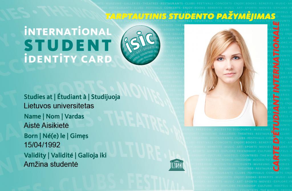 ISIC - tarptautinis studento pažymėjias