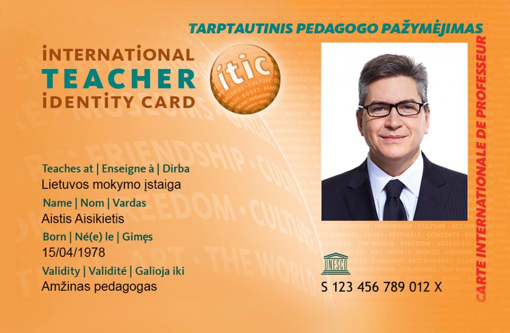 ITIC pedagogo pažymėjimas