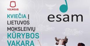 Lietuvos moksleivių kūrybos vakaras ESAM