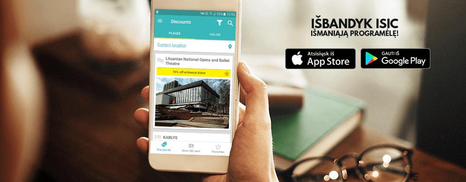 ISIC mobilioji programėlė