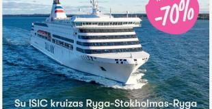 Visą vasario mėnesį studentų pamėgtas kruizas į Stokholmą nuo 12,50 Eur
