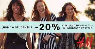 """Studentų dienos ,,H&M"""" parduotuvėse"""