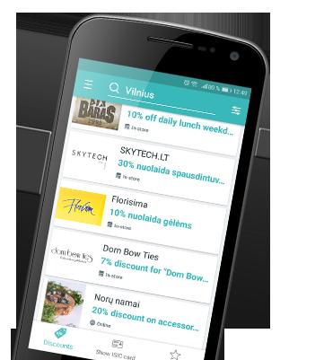 ISIC App Tavo telefone –  galimybės visame pasaulyje!